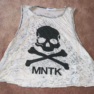 Cropped mntk soul tank top